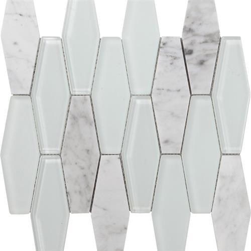 Metropolitan Stone  Glass Blend Carrara - Polished Diamond
