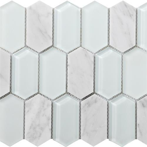 Metropolitan Stone  Glass Blend Carrara - Polished Picket
