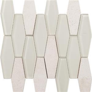 GlassTile MetropolitanStoneGlassBlend FOSSTGLCHABGLDIA Chablis-HonedDiamond