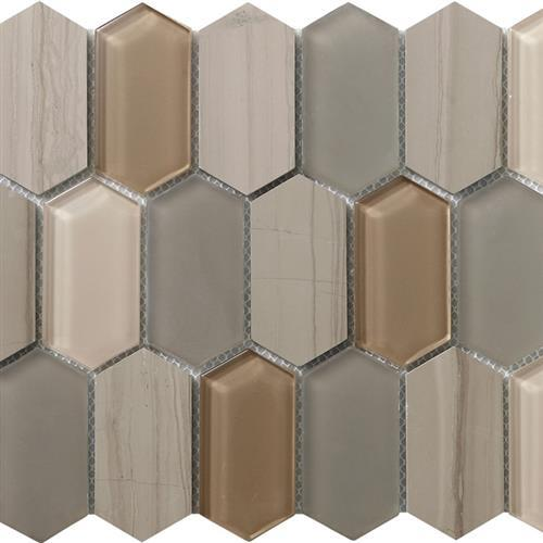 Metropolitan Stone  Glass Blend Dune - Polished Picket