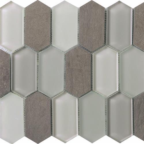 Metropolitan Stone  Glass Blend Mink - Honed Picket