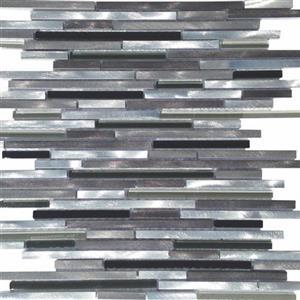 GlassTile Metallica FOSMETLDKMED12 Linear2