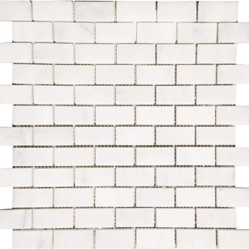 Bianco Neve Polished Staggered 1X2 Mosaic