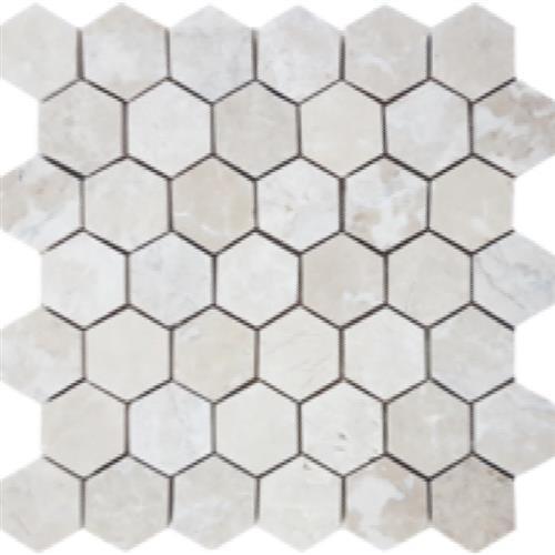 "Brushed Hexagon 2"" Mosaic"