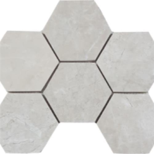 "Brushed Hexagon 4"" Mosaic"