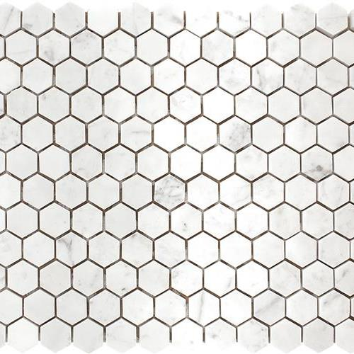 Carrara Polished 1 Hexagon Mosaic