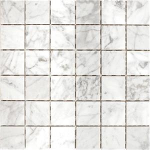 NaturalStone Carrara PATARASCAR22 White2x2Mosaic