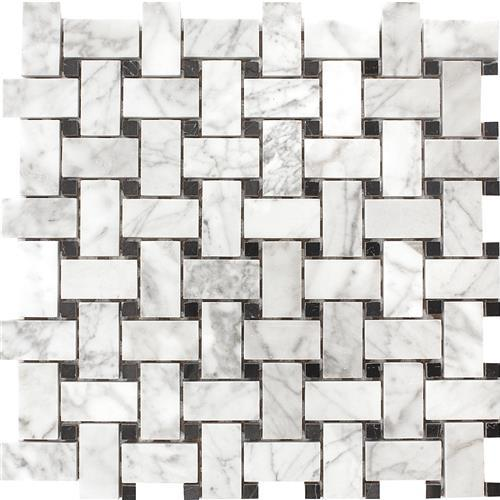 Carrara White Basketweave Mosaic