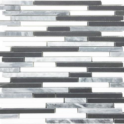 Metropolitan - Blends Collection Random Multi Linear Thassos Bardiglio And Black