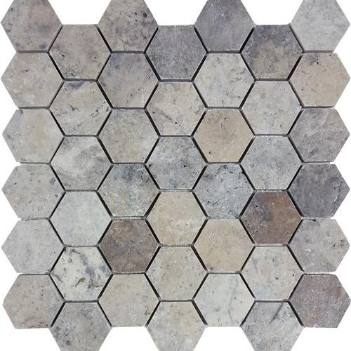 Silverado Brushed 2 Hexagon Mosaic