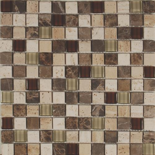 Glass Lux Series 1X1 Mixed Mosaic