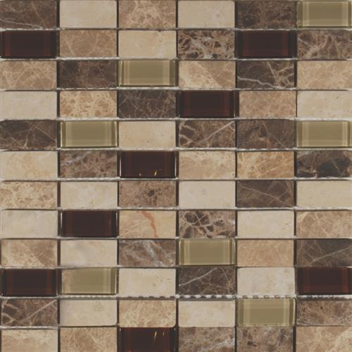 Glass Lux Series 1X2 Staggered Mixed Mosaic