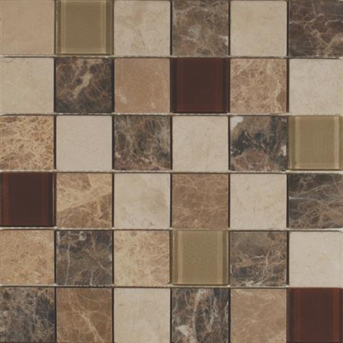 Glass Lux Series 2X3 Mixed Mosaic