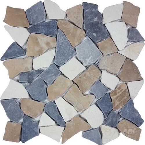 Ocean Stones  Tan White Gray Tumbled