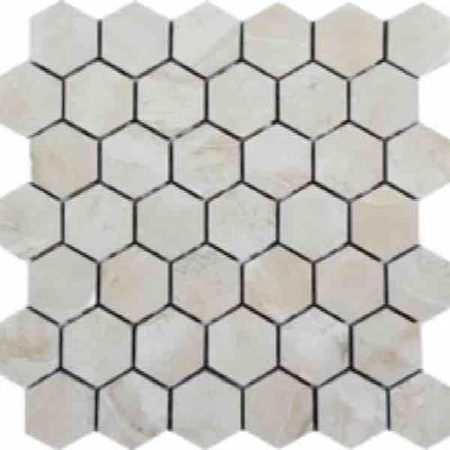Cashmere Beige Brushed 2 Hexagon Mosaic