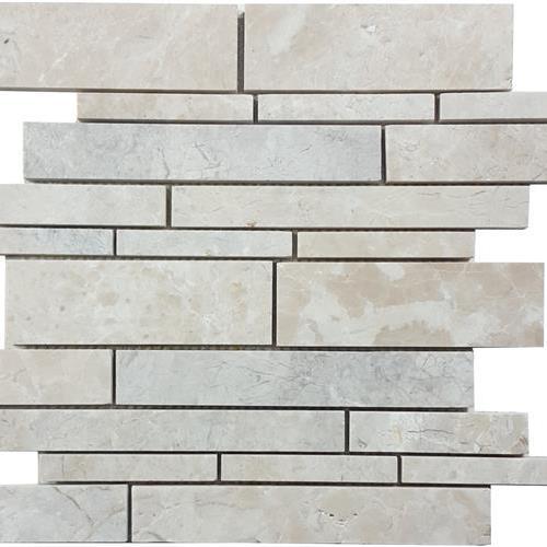Cashmere Beige Brushed Random Linear Mosaic