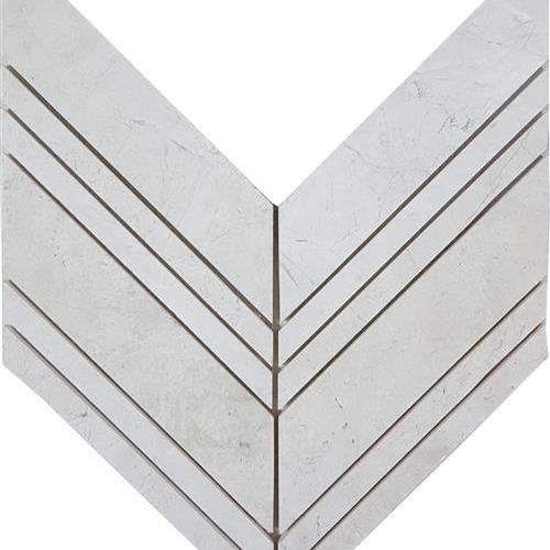 Imperial Pearl Brushed Chevron Mosaic
