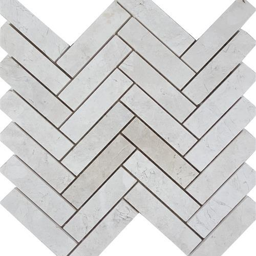 Imperial Pearl Brushed Herringbone Mosaic