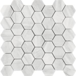 NaturalStone ImperialPearl STDBRUSIMPHEX2 Brushed2HexagonMosaic