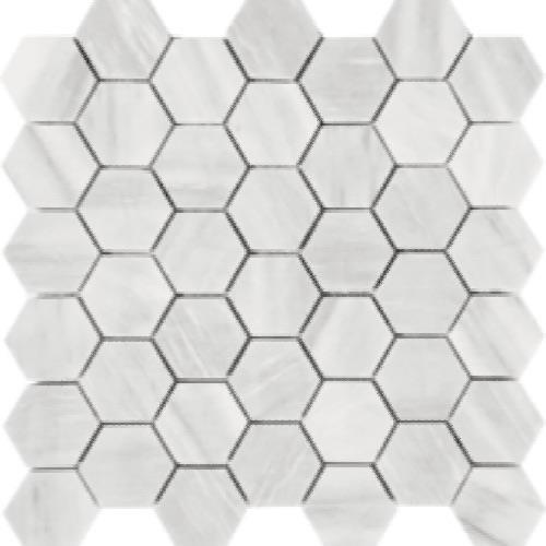 Imperial Pearl Brushed 2 Hexagon Mosaic