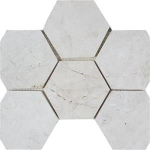 NaturalStone ImperialPearl STDBRUSIMPHEX4 Brushed4HexagonMosaic
