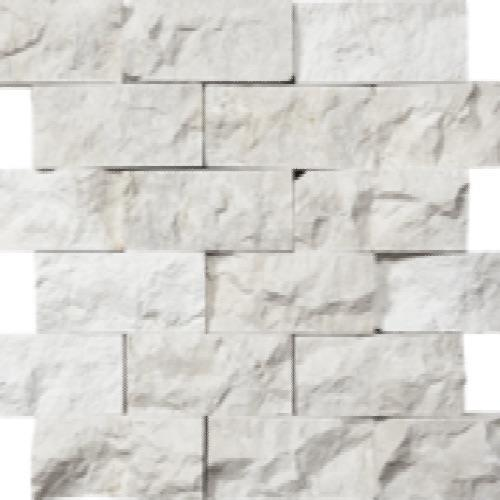 Tesoro Imperial Pearl Split Face 2x4 Mosaic Natural Stone