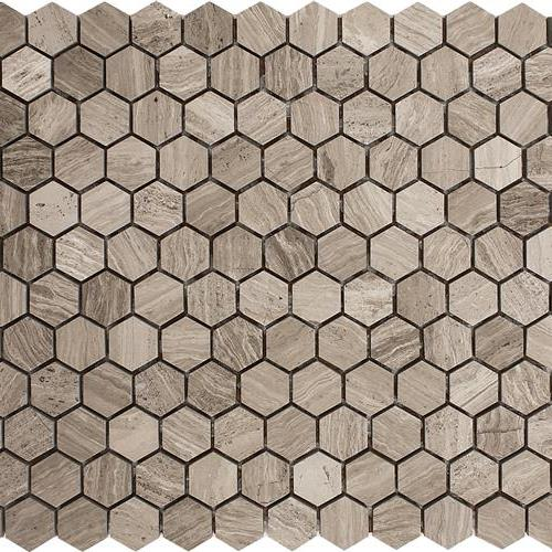 Wooden Gray Polished 1 Hexagon Mosaic