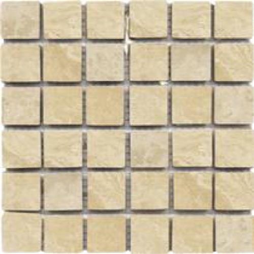 Beige Tumbled 2X2 Mosaic