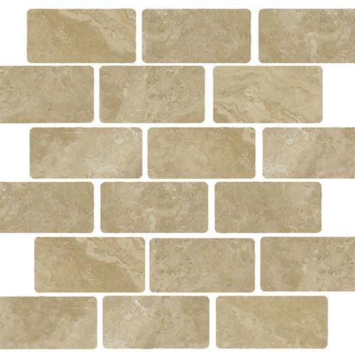 Beige Tumbled Staggered 2X4 Mosaic