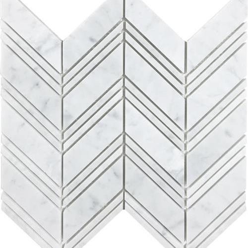 Metropolitan - Stone White Cararra Honed Chevron