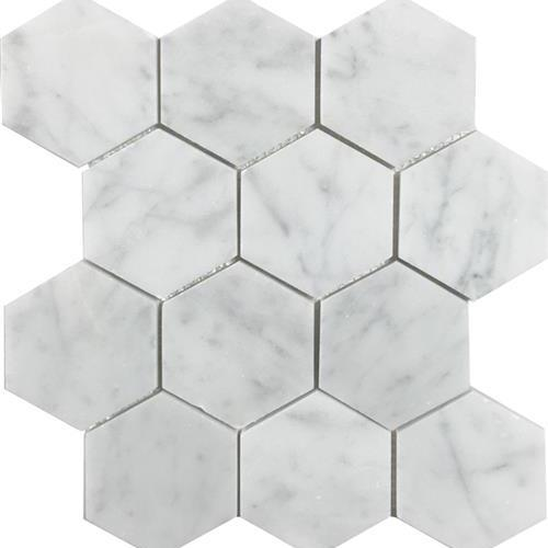 Metropolitan - Stone White Cararra Honed Hexagon