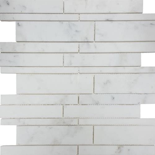 Metropolitan - Stone White Cararra Honed Random Strip