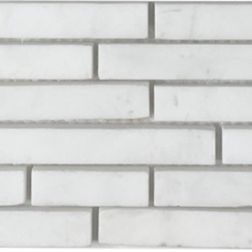 Metropolitan - Stone White Cararra Honed Pixie Strip