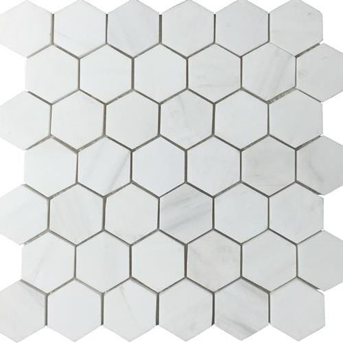 Metropolitan - Stone White Dolomite Honed Hexagon