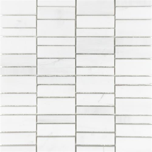 Metropolitan - Stone White Dolomite Honed Irregular Mosaic
