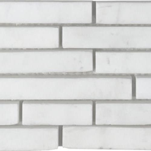 Metropolitan - Stone White Dolomite Honed Pixie Strip