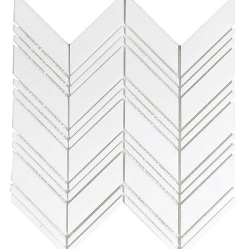 Metropolitan - Stone White Thassos Polished Chevron