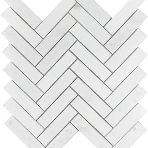 Metropolitan - Stone White Thassos Polished Herringbone