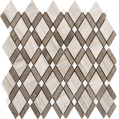 Gray Storm Diamond Mosaic 12 X 12