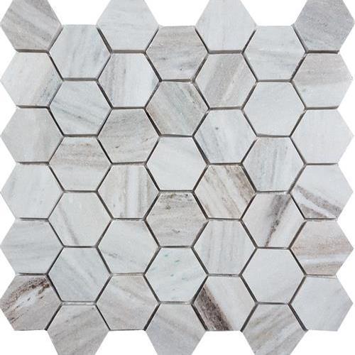 Skyline Polished 2 Hexagon Mosaic