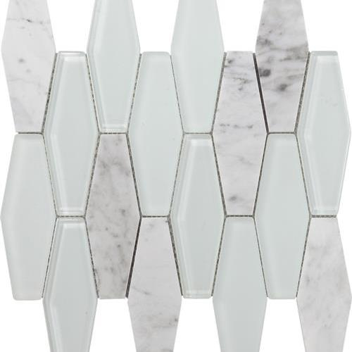 Metropolitan - Stone  Glass Carrara Polished Diamond