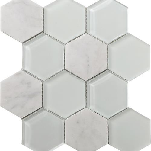 Metropolitan - Stone  Glass Carrara Polished Hex