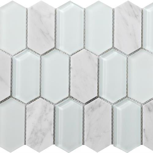 Metropolitan - Stone  Glass Carrara Polished Picket