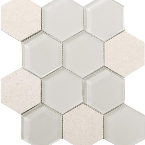Metropolitan - Stone  Glass Chablis Honed Hex