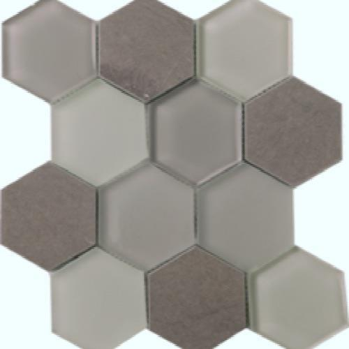 Metropolitan - Stone  Glass Mink Honed Hex