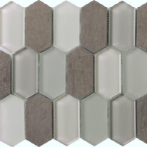 Metropolitan - Stone  Glass Mink Polished Picket