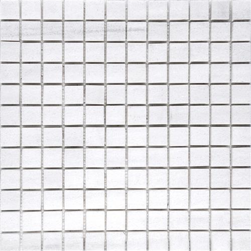 Solto White Honed 1X1 Mosaic