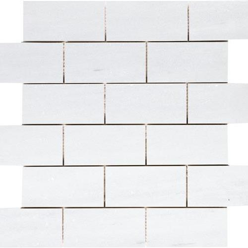 Solto White Honed 2X4 Mosaic