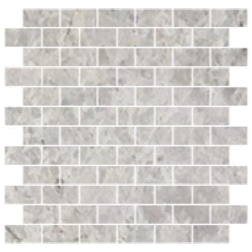 Tesoro Nuvoloso Brushed 1x2 Staggered Mosaic Natural Stone