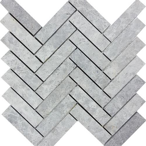Nuvoloso Brushed Herringbone Mosaic